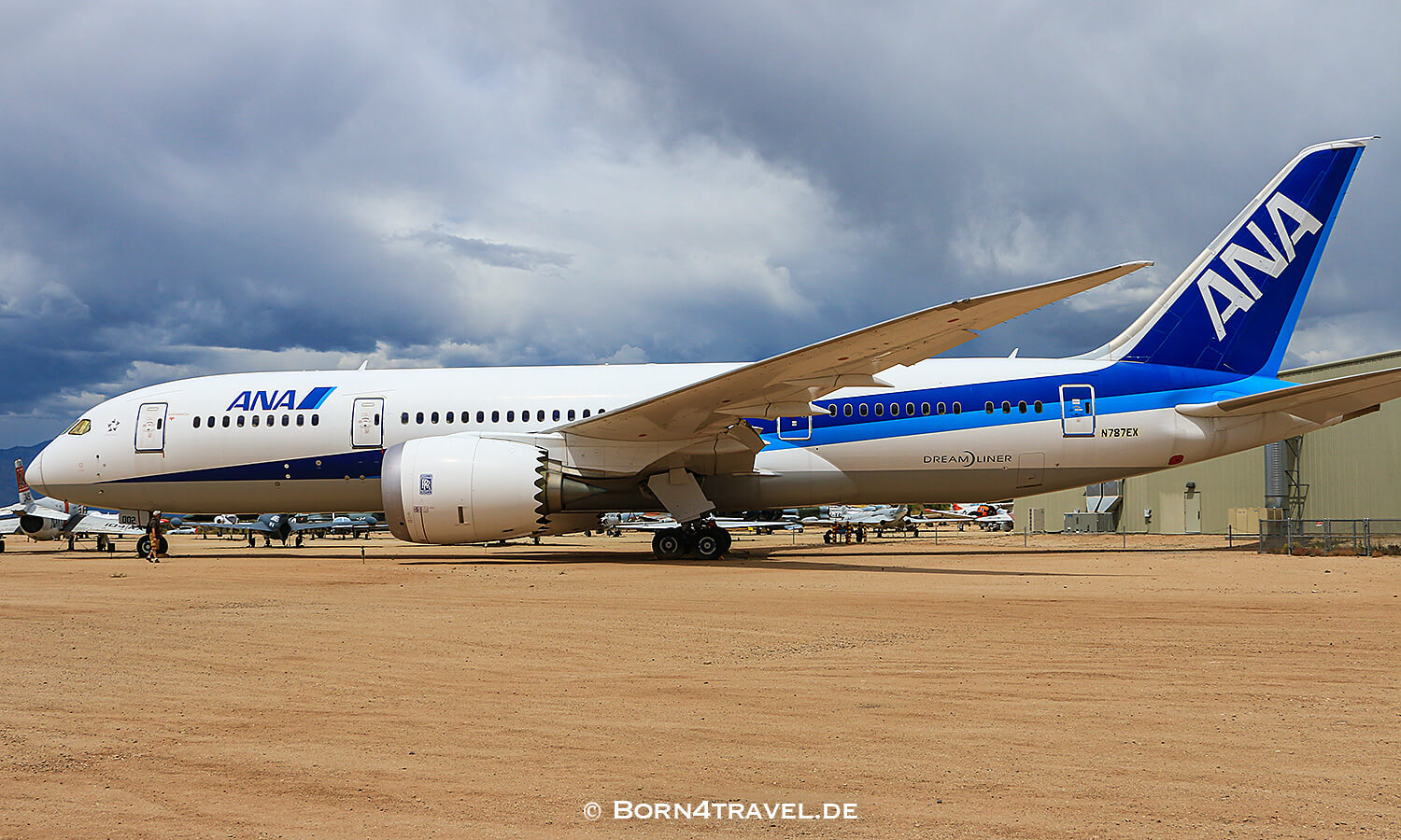 ANA Dreamliner B787,PIMA AIR & SPACE MUSEUM,Arizona,USA,born4travel.de