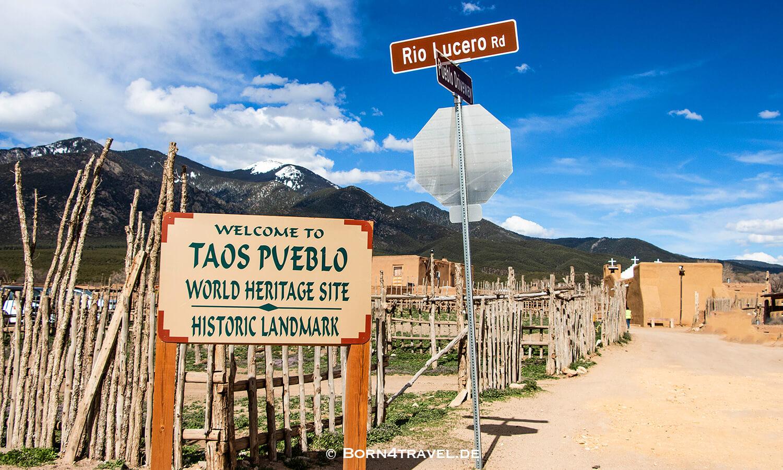 Taos Pueblo,UNESCO World Heritage,New Mexico,USA,born4travel.de