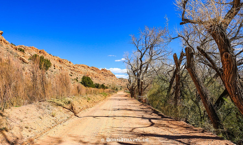 Weg zur Plaza Blanca,New Mexico,USA,born4travel.de